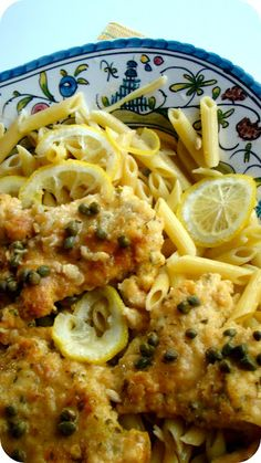 chicken picatta - love this!  I thought this was delish! I would definitely make it again