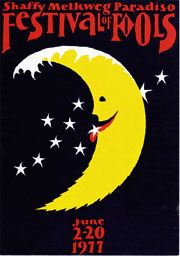 Festival of Fools Poster Get Funky, Festival Posters, The Fool, Belgium, Dutch, Favorite Things, Moon, Ads, Prints