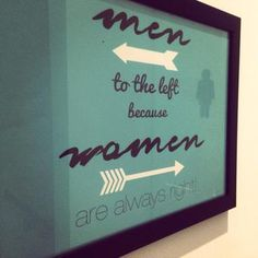 Cleaver toilet sign