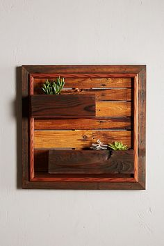 Reclaimed Wood Wall Planter #anthropologie