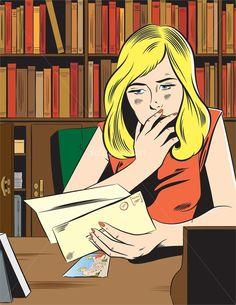 Резултат с изображение за pop art girl reading