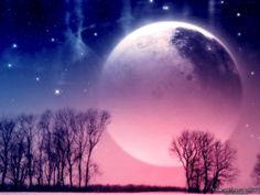 """It is said that the name """"pink moon"""" comes from the herb moss pink or wild ground"""