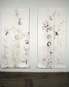 Contemporary Drawing - double shadow paintings (Original Art from Rickie Wolfe)