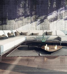 Panoramic wallpaper CASUAL Grunge Collection by N.O.W. Edizioni