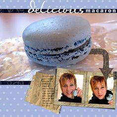 Delicious Macaron - digital scrapbooking layout