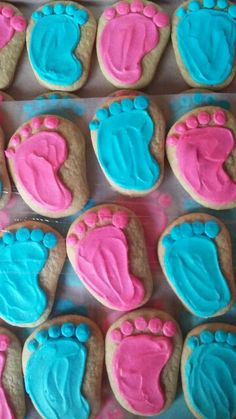 Baby footprints for gender reveal party