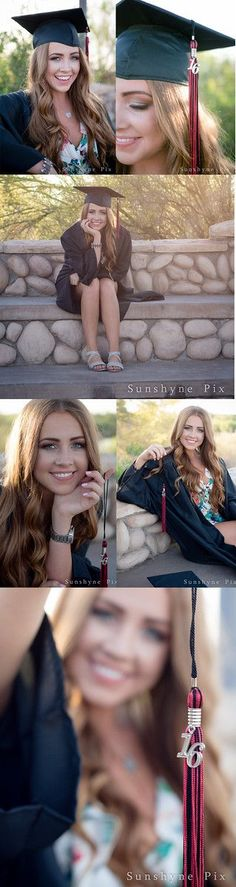 Cap and Gown Senior Portrait Session. Gilbert, AZ Senior Portrait Photographer by Sunshyne Pix