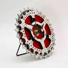 Shimano Bike Gear Clock - handcrafted in the Tread & Pedals upcycling studio from Recycled Bicycle Parts