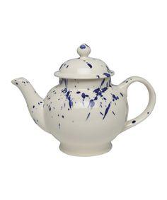 Navy Splatter Four Cup Teapot, Emma Bridgewater. Shop the latest Emma Bridgewater collection at Liberty.co.uk