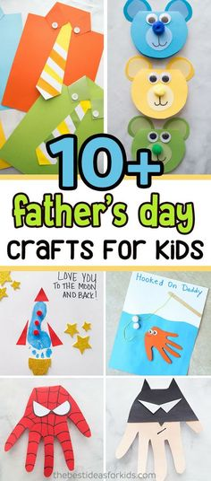 Over 20 easy Fathers Day crafts for kids. We love how simple these Father's Day crafts for kids and preschoolers are! Fathers Day Crafts for Preschoolers Toddler Fathers Day Gifts, Easy Fathers Day Craft, Diy Gifts For Dad, Diy Father's Day Gifts, Father's Day Diy, Craft Gifts, Preschool Fathers Day Gifts, Fathers Day Crafts For Toddlers Diy, Mothers Day Gifts Easy