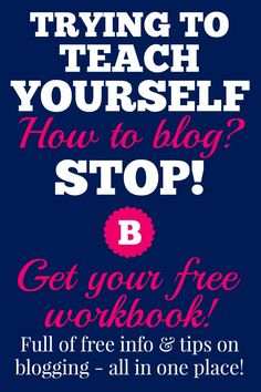 I waded through HUNDREDS of blogging articles and tutorials to teach myself what I know now. If you're in your first few months blogging, and you feel overwhelmed, get your free ebook and take it at your own pace! It has a lot of info tailored to YOU.