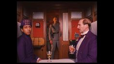 Train scene # 1 in The Grand Budapest Hotel, with Zero and M. Gustafe, and fascist soldier... love the attention to detail in the train compartment...