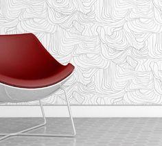Sandstone Wallpaper in Silver Rock design by Jill Malek