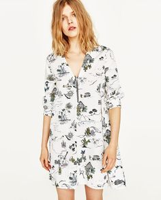 Image 2 of PRINTED DRESS WITH ZIP from Zara