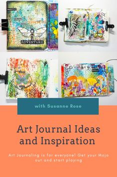 Art Journal Pages, Art Journals, Art Journal Tutorial, Mixed Media Tutorials, Happy Paintings, Nature Journal, Rose Art, Art Journal Inspiration, Journalling
