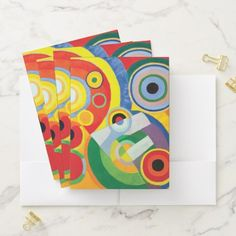 Rythme Joie de Vivre by Robert Delaunay Pocket Folder  $22.30  by colorfulworld  - cyo diy customize personalize unique