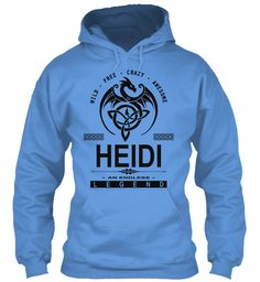 Heidi An Endless Legend Carolina Blue Sweatshirt Front
