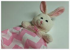 Baby Security Blanket, Baby lovie, lovey, chevron  blanket, Bunny, rabbit , shower gift, FREE SHIPPING by PegsSewCrafty on Etsy