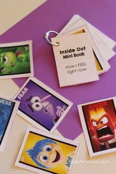 Sometimes emotions can be difficult for kids to understand. Talk with kids about emotions using Disney*PIXAR Inside Out movie. free printable cards to use for memory or a minibook ! Emotions Cards, Feelings And Emotions, Emotions Game, Emotions Preschool, Teaching Emotions, Social Emotional Learning, Social Skills, Counseling Activities, Activities For Kids