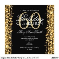 40 Best 60th Birthday Party Invitations Images In 2018