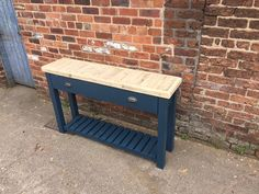 Handmade Butchers block sideboard table with thick reclaimed