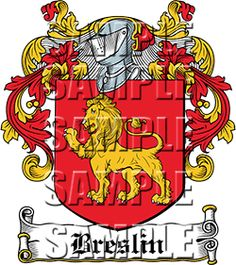 Breslin Family Crest apparel, Breslin Coat of Arms gifts