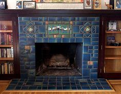 8 Secure Clever Tips: Fireplace Mantle Diy fake fireplace flames.Tv Over Fireplace Rock fireplace living room cozy.Fireplace And Mantels Window. Craftsman Tile, Craftsman Fireplace, Craftsman Interior, Farmhouse Fireplace, Craftsman Style Homes, Craftsman Bungalows, Cottage Fireplace, Victorian Fireplace, Fireplace Kitchen