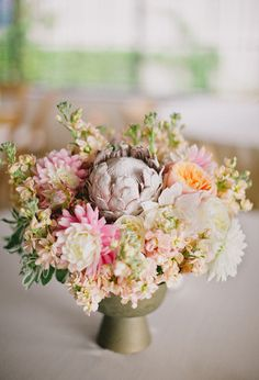pale shades of pink, purple and peach florals