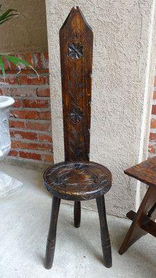 1800 S Antique Folk Art Scandinavian Milking Stool W