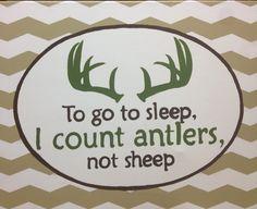 Hunting; deer; chevron; camo themed boy room moss green; tan; brown; antlers