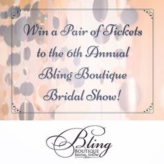 fabulous vancouver wedding This is our last Two Ticket Giveaway before the #BlingBridalShow this Sunday!!! The WINNER will be announced on Saturday morning. To enter, please like, comment or share one of our daily Facebook posts. Good Luck!! #wedding #weddingshow #bride #bridetobe #engaged #contest #giveaway by @blingbridalshow  #vancouverengagement #vancouverwedding #vancouverwedding
