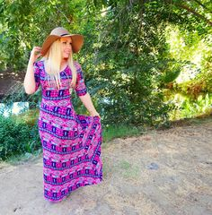 Fall fashion: Lularoe Aztec Ana maxi dress