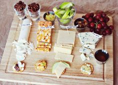 Set up a cheese plate with labels and throw a wine & cheese party for National Cheese Lover's Day Party Dips, Appetizers For Party, Appetizer Recipes, Party Recipes, Party Snacks, Wine And Cheese Party, Wine Cheese, Cheese Platters, Cheese Table