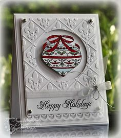 love this embossing folder..use an S U folder with oval cut out