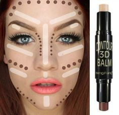On Sale School Contour Conceal Waterproof Makeup Creamy Double-ended 2 in1 Contour Stick Contouring Highlighter Bronzer Create 3D Face Makeup Concealer Full Cover Blemish [6407431044]