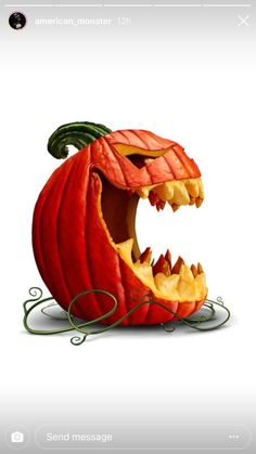 Halloween pumpkin and scary jack o lantern character in a side view with an open mouth on a white background as a symbol for fall and autumn festive communication with illustration elements - buy this illustration on Shutterstock & find other images. Scary Halloween Pumpkins, Halloween Jack, Diy Halloween Decorations, Holidays Halloween, Halloween Crafts, Halloween Yard Art, Pumkin Decoration, Halloween Symbols, Halloween Images