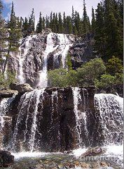Photograph of glacial waterfall, Alberta, Canada. Artwork by Sharon Patterson may be PURCHASED at: http://1-sharon-patterson.fineartamerica.com AND http://www.bigstockphoto.com/search/?contributor=Sharon%20Patterson&safesearch=n AND http://canstockphoto.com/stock-image-portfolio/SharonPatterson