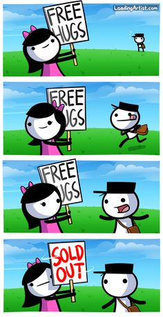 GET YOUR FREE HUGS HERE! Tap to view the full comic!
