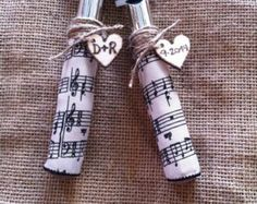 Music Themed Wedding Cake Knife and Server Set/Personalized
