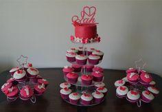 My first cake & cupcakes order. Cupcakes Design, Fondant, Desserts, Food, Tailgate Desserts, Fondant Icing, Dessert, Postres, Deserts
