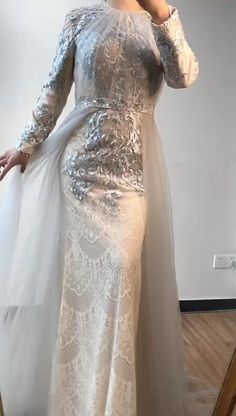 Evening Gowns Couture, Designer Evening Gowns, Designer Gowns, Designer Wedding Dresses, Bridal Dresses, Prom Dresses, Indian Fashion Dresses, Indian Gowns, Muslim Fashion