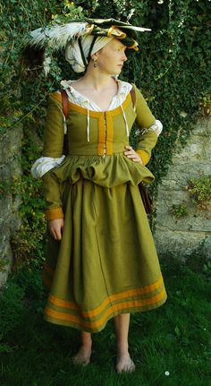 Kampfrau 16th century by ~Rejdie on deviantART I love that she got the *simplicity* of the cut and style for a camp follower down!