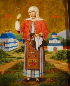 Martyr Filofteia of Arges (A Saint who helps the abused children) Religious Icons, Religious Art, Saint Joan Of Arc, Medieval Crafts, Christian Prayers, Les Religions, Best Icons, Byzantine Icons, Holy Mary