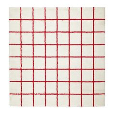 IKEA SIMESTED Rug, high pile White/red 200 x 200 cm The rug will last a long time since it is stain-resistant and easy to care for. Ikea Rug, Rug Studio, Medium Rugs, Square Patterns, Traditional Furniture, Room Accessories, Geometric Rug, White Rug, Modern Rugs