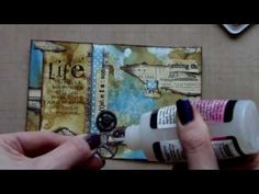 Mixed Media Postcard Art - Life this one is def worth watching! Mixed Media Techniques, Mixed Media Tutorials, Art Journal Techniques, Art Tutorials, Mixed Media Journal, Mixed Media Collage, Mixed Media Canvas, Art Journal Pages, Art Journals