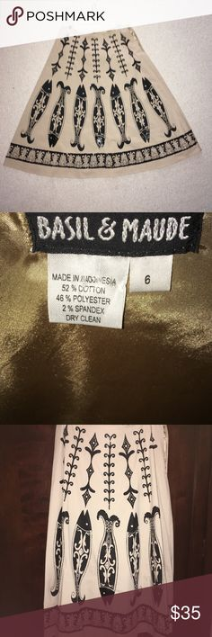 NEW Vintage Basil & Maude sequin A-line skirt!❤️ New NWOT never worn beautifully lined sequined A-line Basil & Maude skirt.  Vintage from Nordstrom.  You'll love it!! Basil & Maude Skirts