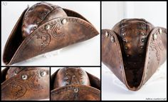 Leather Tricorn Hat by Adhras.deviantart.com on @DeviantArt