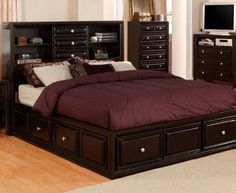 platform bedroom sets for anyone design ideas furniture america gavin full size bed set King Size Bedroom Furniture, King Size Bedroom Sets, King Size Bed Frame, Bed Furniture, King Bedroom, Furniture Removal, Bedroom Decor, Platform Bedroom, King Platform Bed