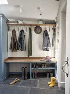 Bring organisation and order to these hard-working areas of your home. A Secret Drawer utility room, boot room, laundry or scullery is designed for. Boot Room Utility, Utility Room Storage, Porch Storage, Hallway Storage, Boot Room Storage, Mudroom Laundry Room, Laundry Room Design, Coat And Shoe Storage, Utility Room Designs