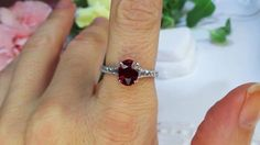 French cut Diamonds and a Ruby center by David Klass Jewelry.